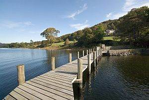 Jetty, Coniston Water, Lake District, England